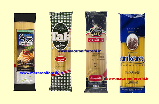 انواع ماکارونی رشته ای 500 گرمی ایرانی و خارجی