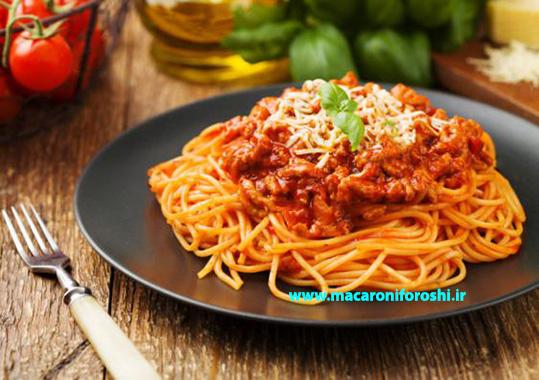 فروش عمده ماکارونی رشته ای اسپاگتی